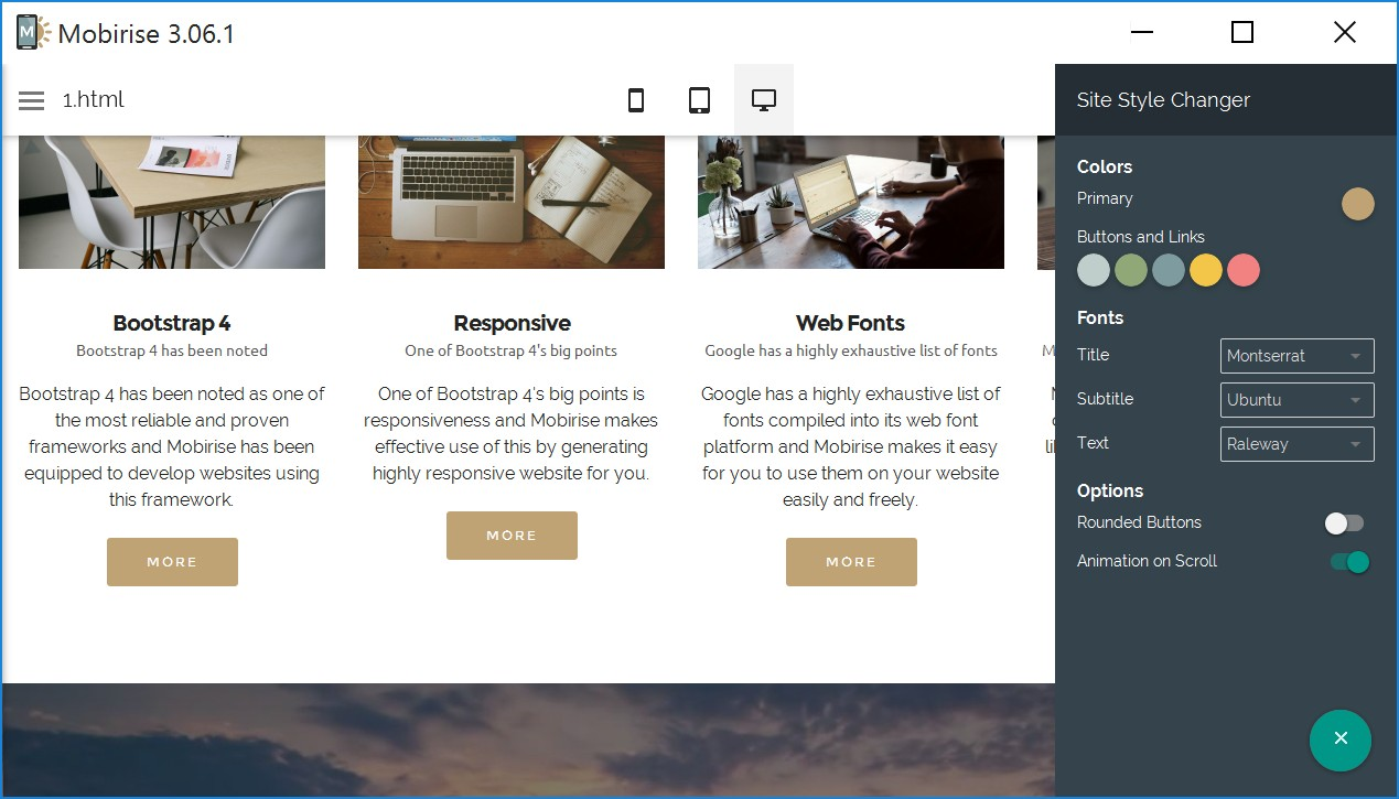 Drag and Drop Responsive Web Page Builder