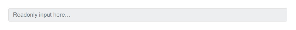 Read-only inputs