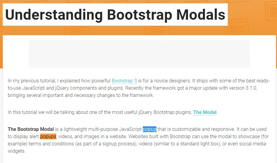 Another  practical  post  relating to Bootstrap Modal Popup