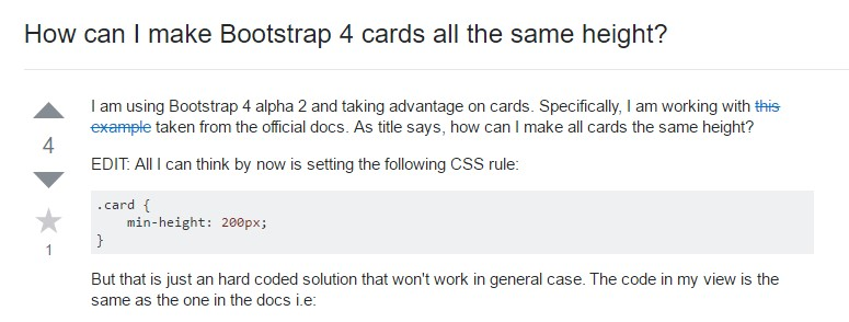 Insights on  exactly how can we  create Bootstrap 4 cards  all the same tallness?