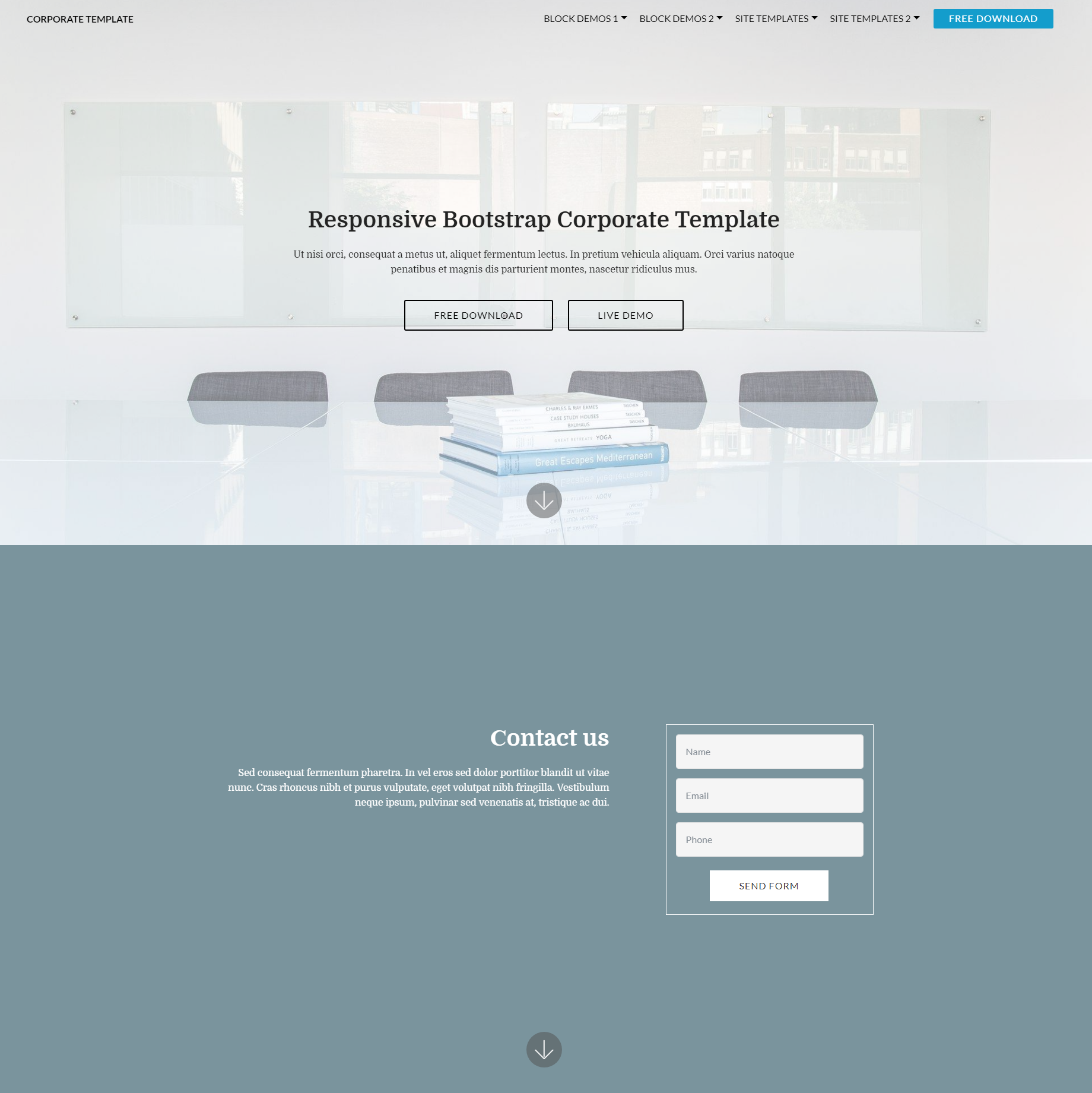 HTML5 Bootstrap Corporate Templates
